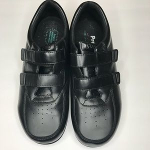 🦌 Propet Men's Black Velcro Shoes WIDE WID…